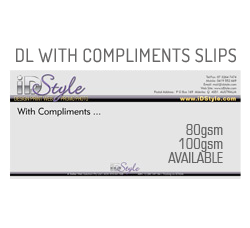 DL With Compliments Slips