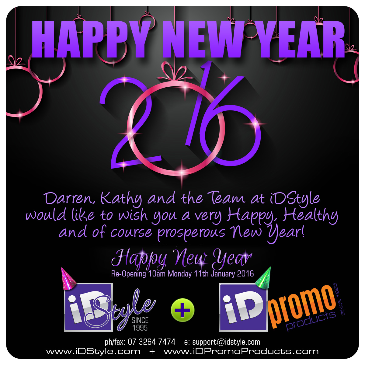 Happy New Year from iDStyle